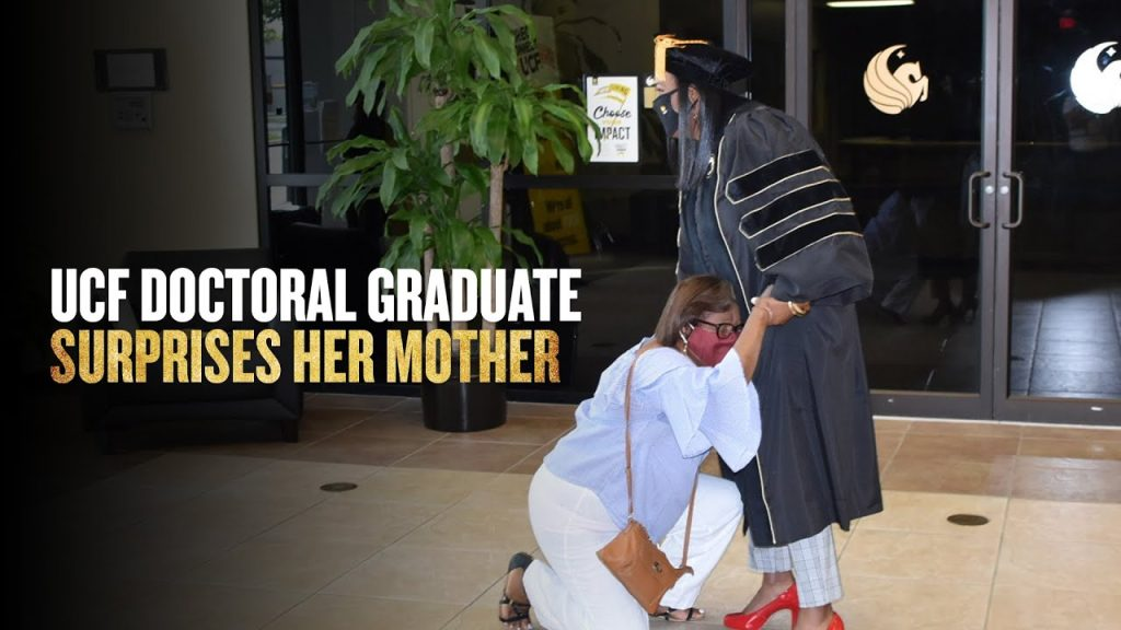 UCF Grad Surprises Mother with Doctoral Degree