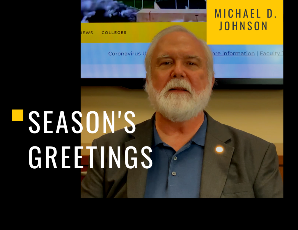 2020 Provost Holiday Message